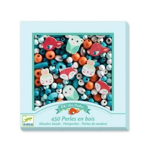 450 perlas de madera: animalitos