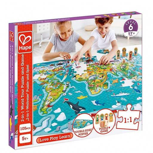2 in 1 world tour puzzle and game