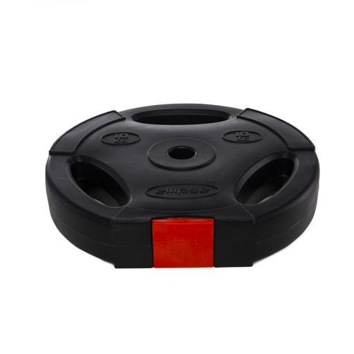 Por Unidad - Disco 10 kg relleno de arena, con agarres (para set de Body Pump)