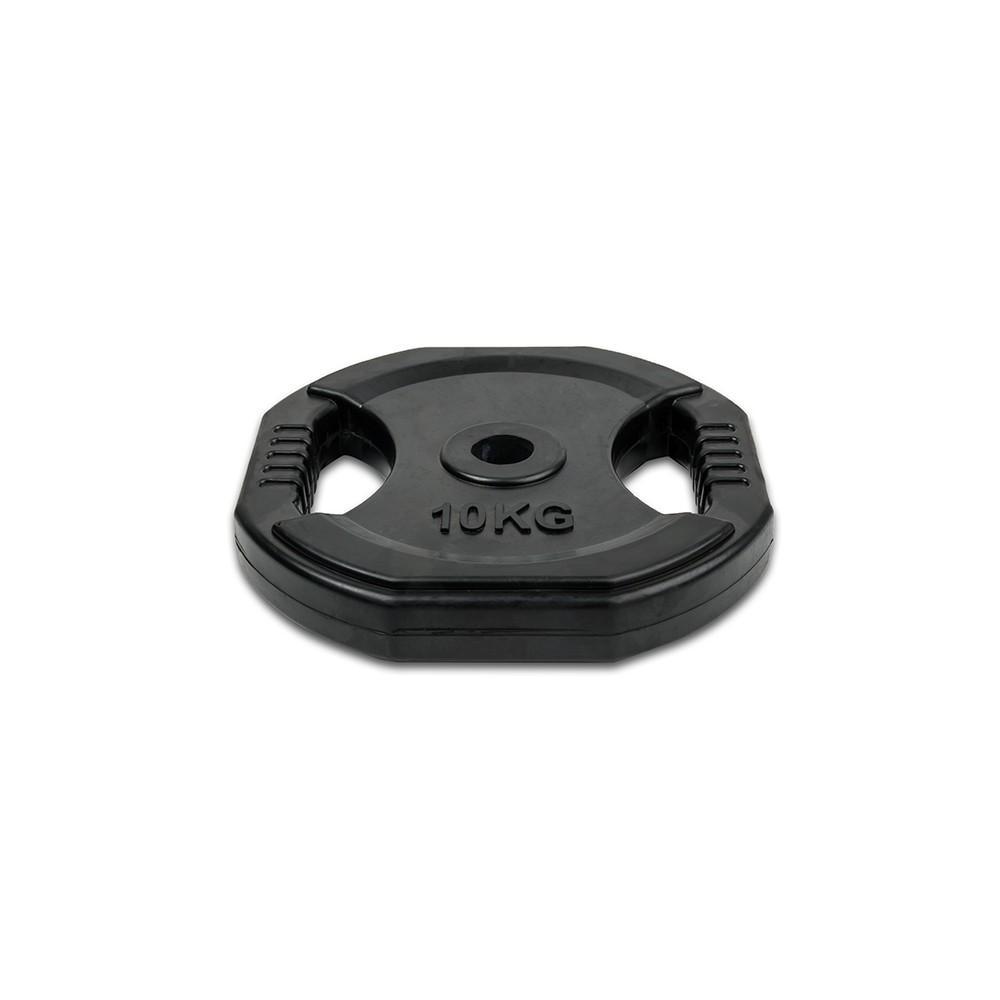 Por Unidad - Disco 10 kg de goma con agarres (para set de Body Pump)