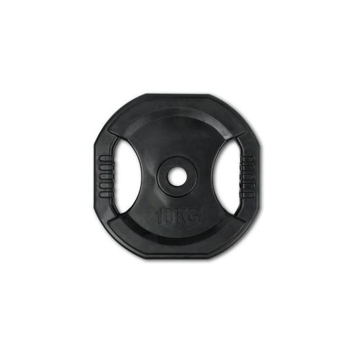 Por Unidad - Disco 10 kg de goma con agarres (para set de Body Pump) [1]