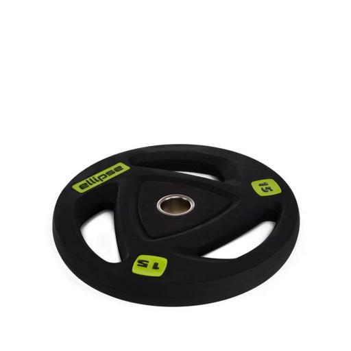 Por Unidad - Discos de Goma Olímpicos 50mm con Agarres