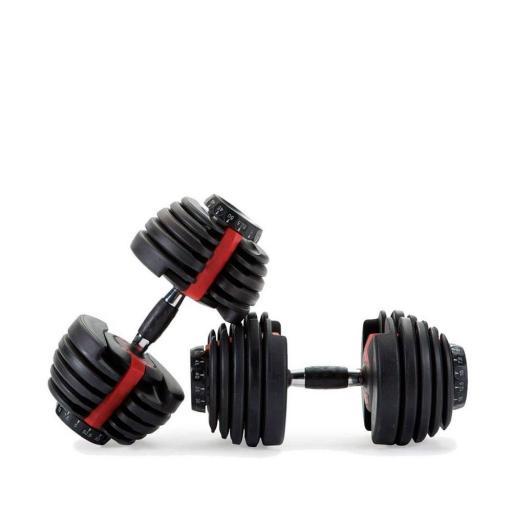 Pack Mancuernas Ajustables con Soporte (de 2 kg a 24 kg)  [1]