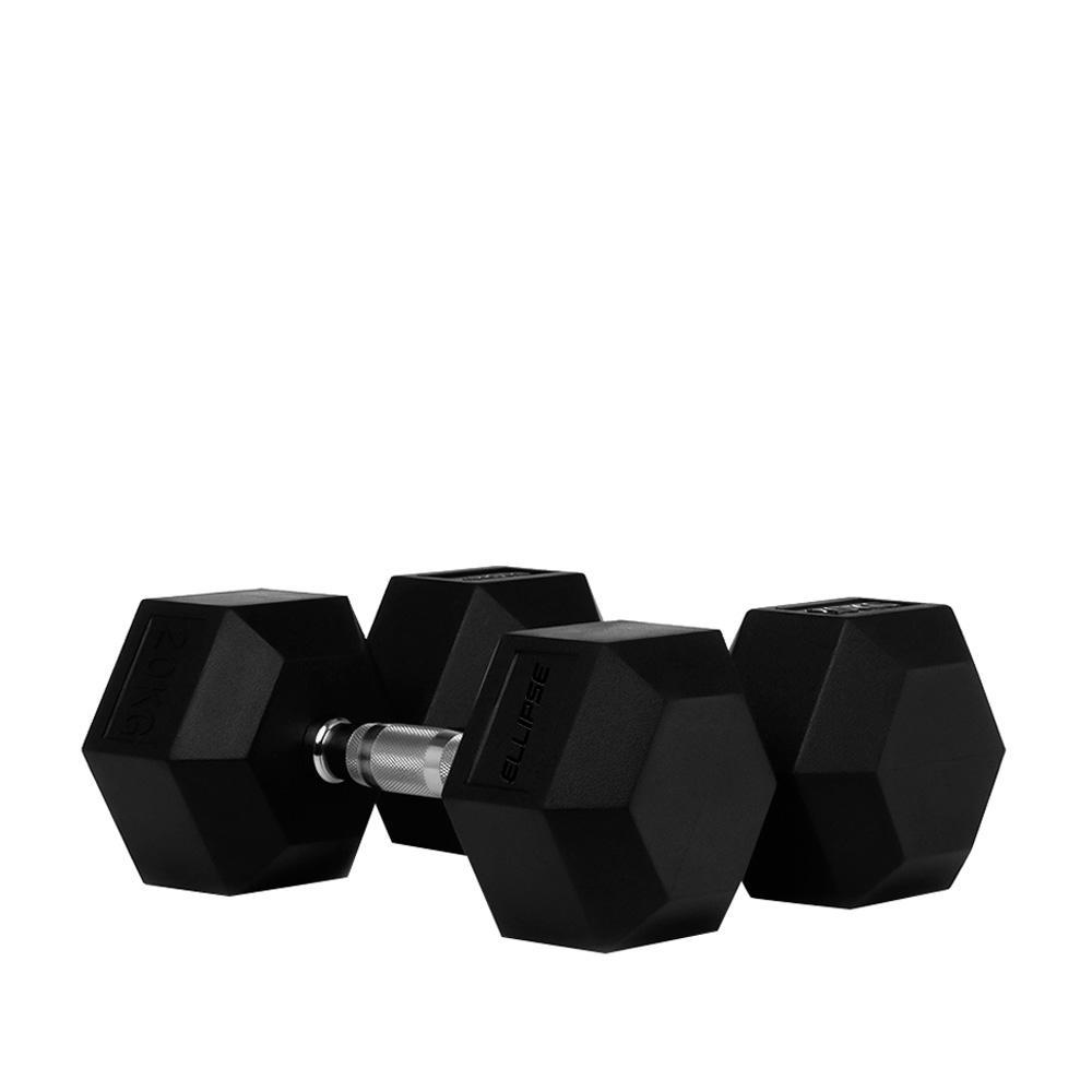 De 2,5 kg a 30 kg por pares - Set Mancuernas Hexagonales de Goma