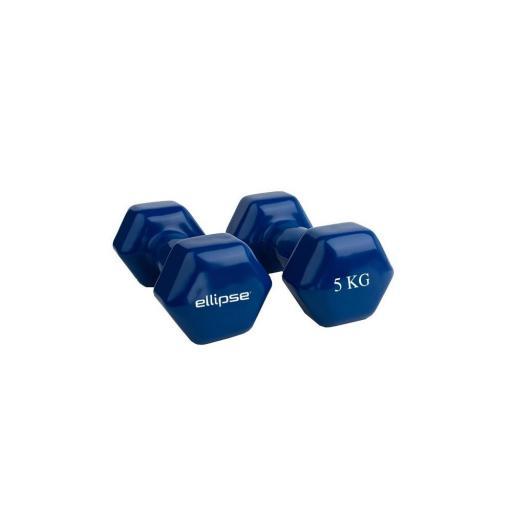 Por Pares - Mancuernas de Vinilo Hexagonales de 1 kg a 5 kg [2]