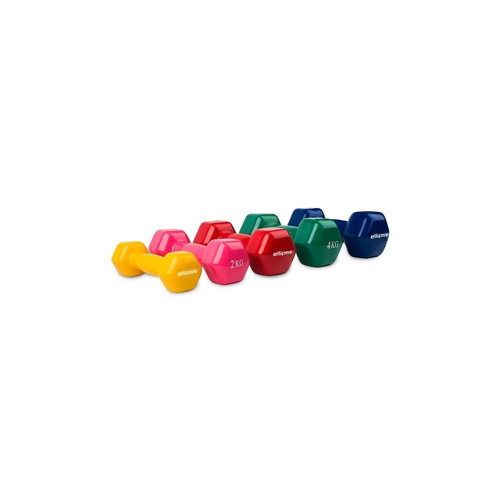 Por Pares - Mancuernas de Vinilo Hexagonales de 1 kg a 5 kg