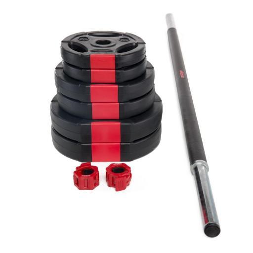 Set de Body Pump (discos rellenos de arena) con collarín de cierre tipo Lock Jaw Collar
