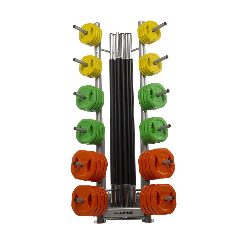 Soporte - Rack para 12 Sets de Body Pump