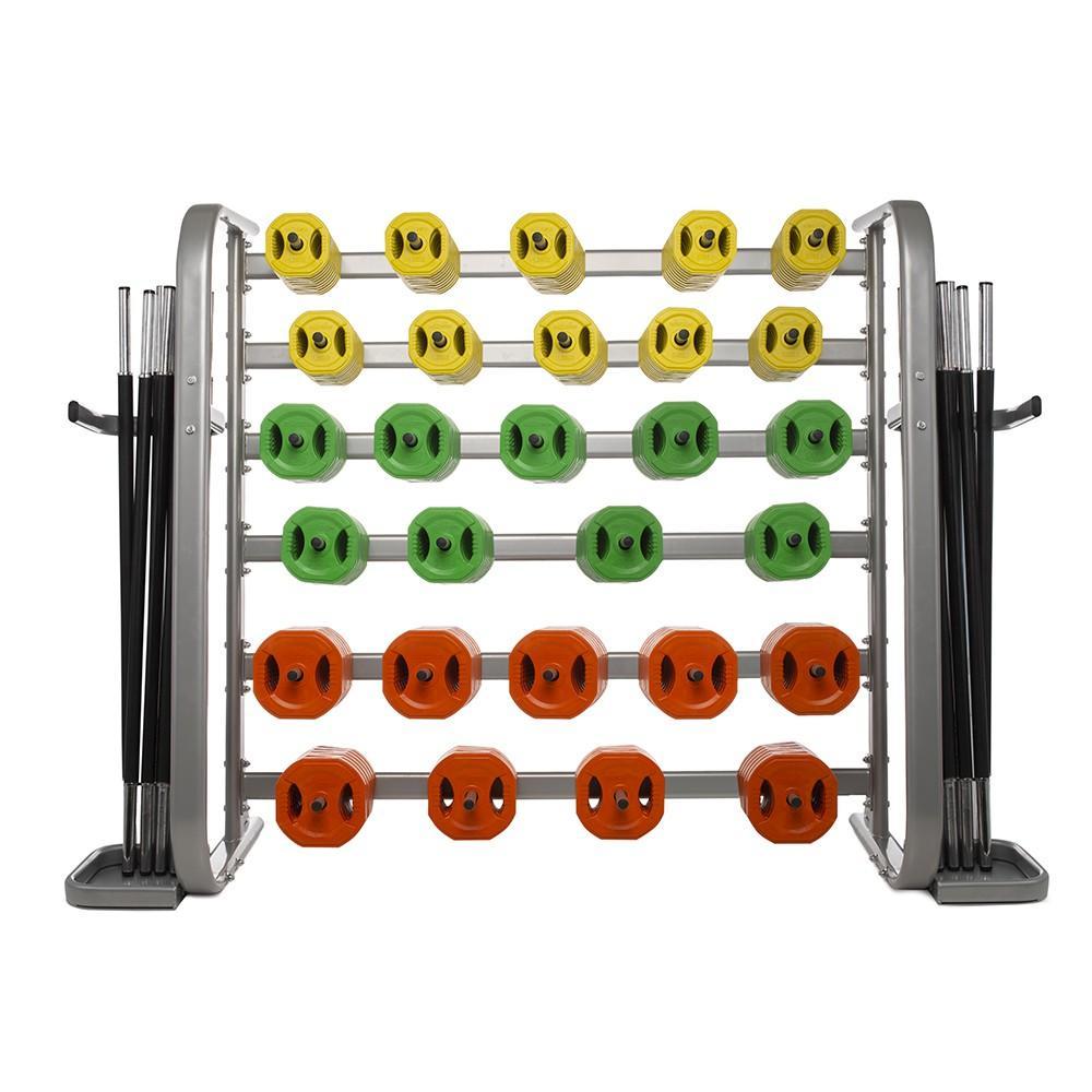 Soporte - Rack para 25 Sets de Body Pump