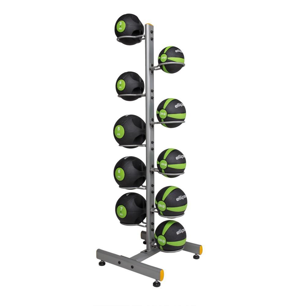 Soporte - Rack Vertical Doble para 10 Balones Medicinales