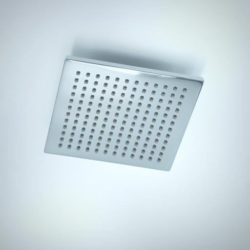 600821110 Rociador de ducha latón cuadrado 20x20 cm