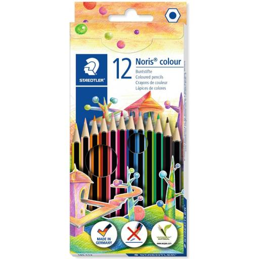 LAPICES DE COLORES NORIS COLOUR STAEDTLER 12 COLORES