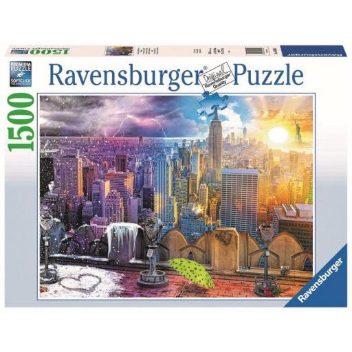 PUZZLE RAVENSBURGER LE STAGIONI DI NEW YORK 1500 PZ