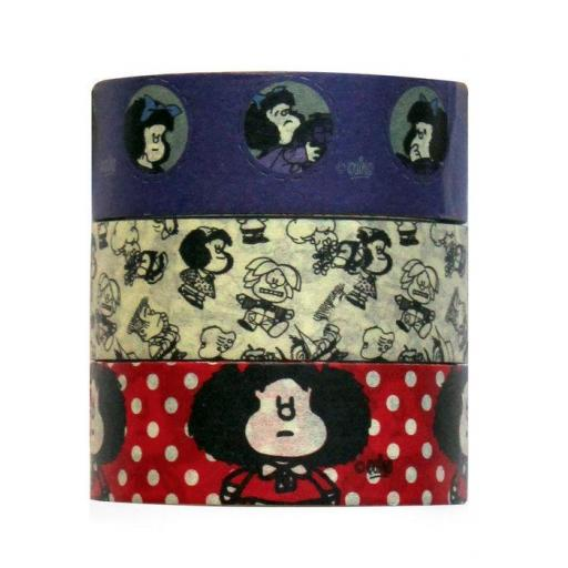 SET 3 CINTAS WASHI MAFALDA