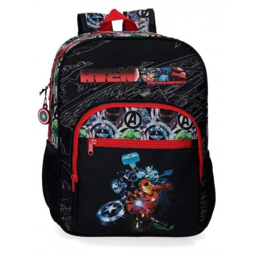 MOCHILA ADAP 38CM. AVENGERS ARMOUR UP