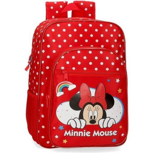 MOCHILA MINNIE 38 CM ADAPTABLE