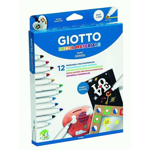 ROTULADORES GIOTTO MULTIPLES SUPERFICIES 12 COLORES