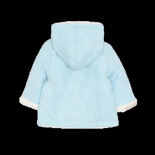 Chaquetón abrigo unisex de bebé en celeste y rosa [2]