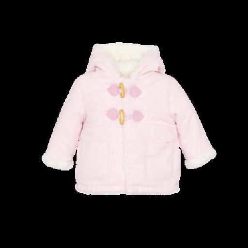 Chaquetón abrigo unisex de bebé en celeste y rosa [1]