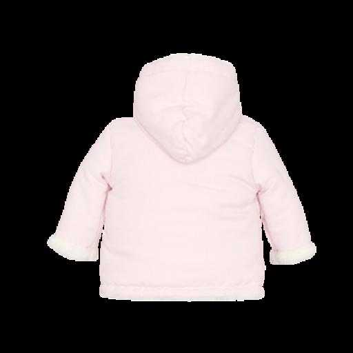 Chaquetón abrigo unisex de bebé en celeste y rosa [3]