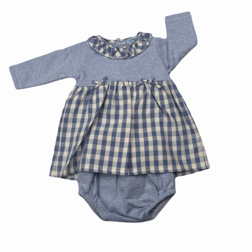 Vestido de niña Blue Squares