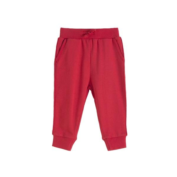 Pantalón largo de chandal niño rojo