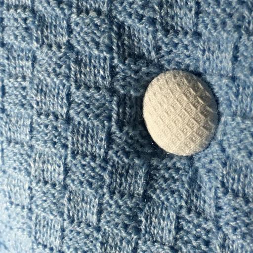 Saco lencero con puntilla para cochecito en celeste [2]