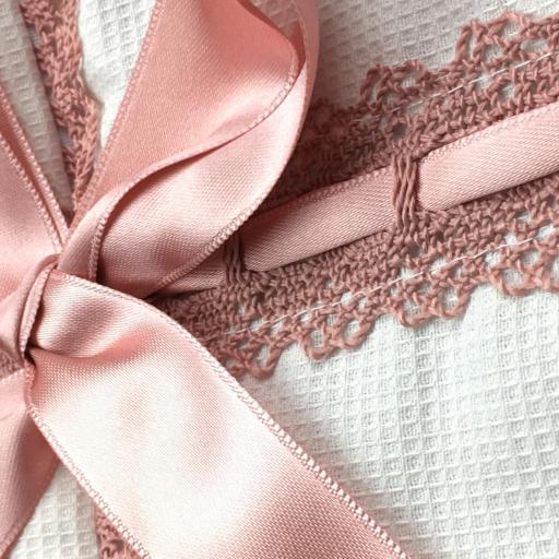 Saco lencero con puntilla para cochecito en rosa-maquillaje [1]
