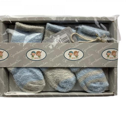 Pack de 3 calcetines de rizo en rosa o azul [3]