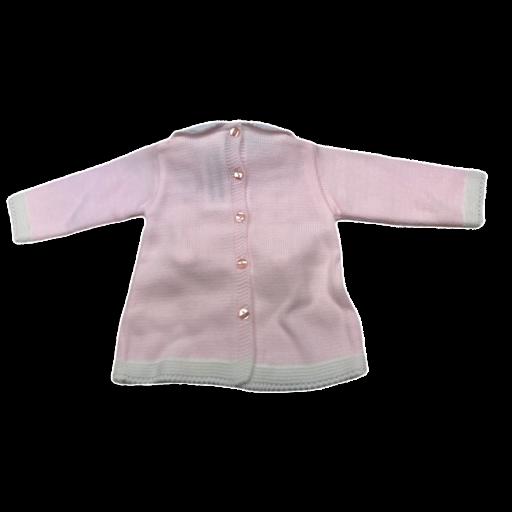 Vestido de punto de primera puesta en rosa [1]