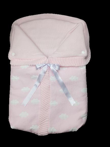 Saco lencero cremallera invisible en rosa Nubes