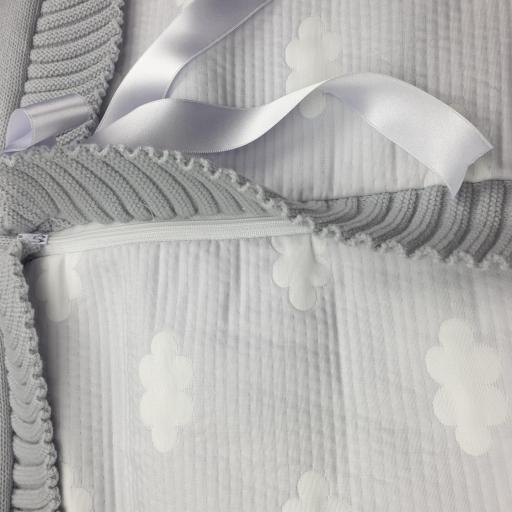 Saco lencero cremallera invisible en gris Nubes [1]