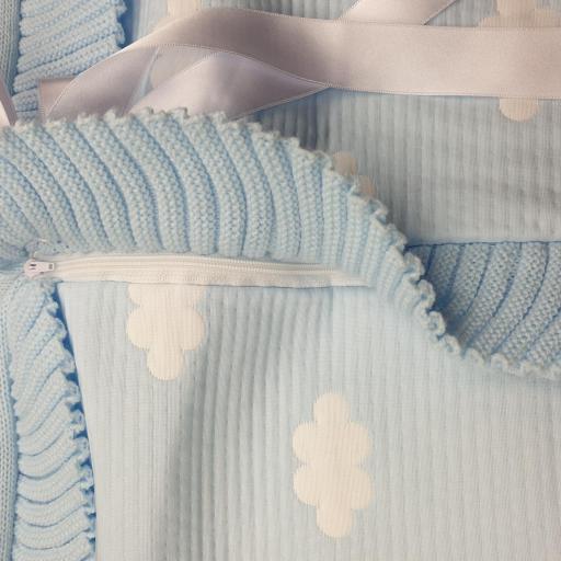 Saco lencero cremallera invisible en celeste Nubes [2]