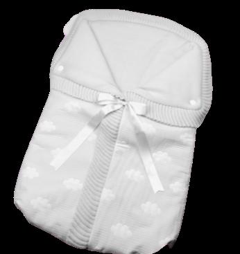 Saco lencero cremallera invisible en gris Nubes