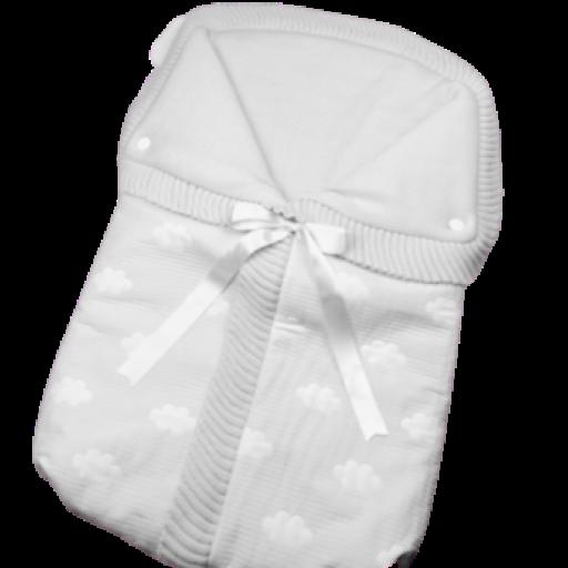 Saco lencero cremallera invisible en gris Nubes [0]