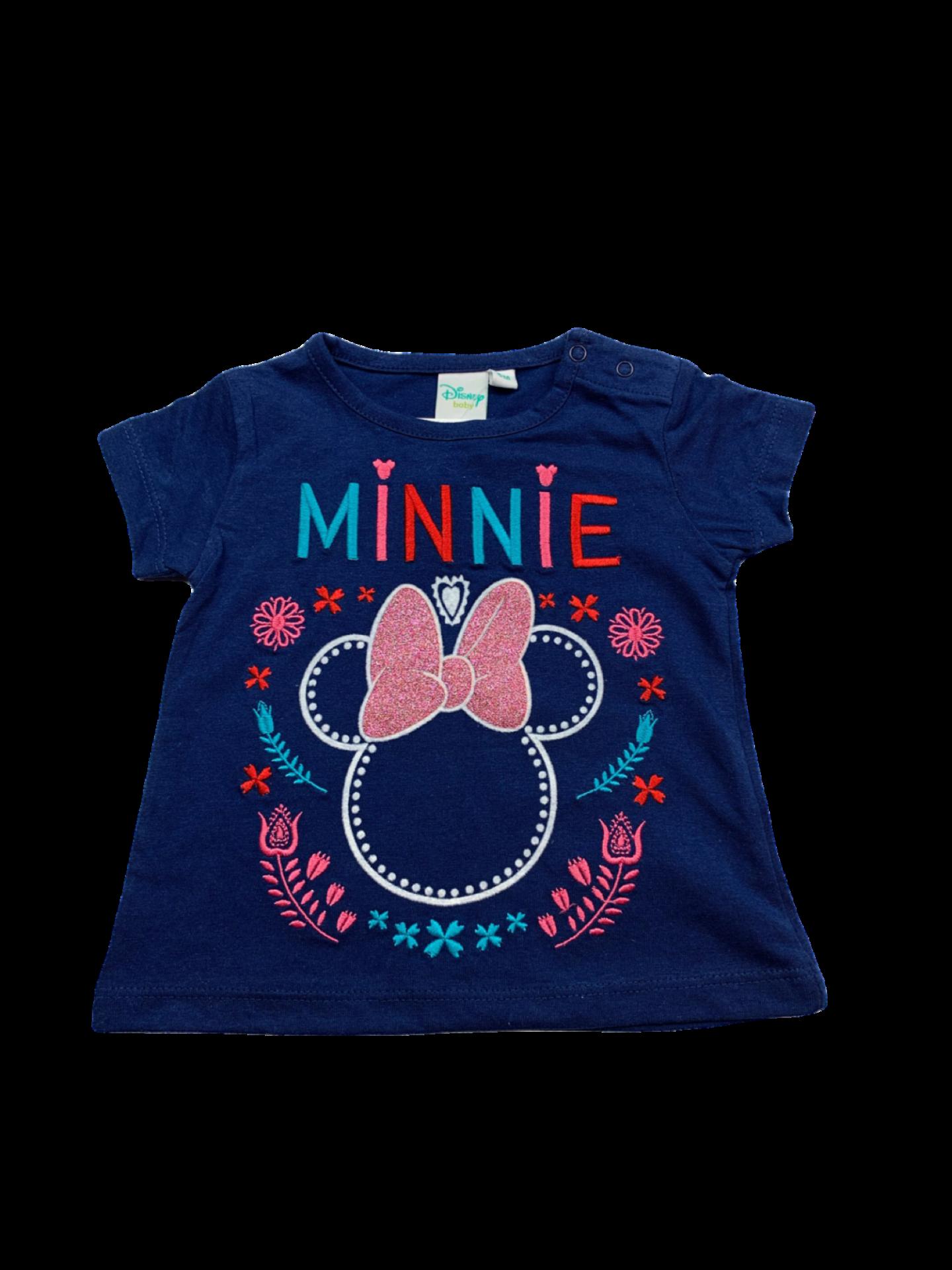 Camiseta de niña marino Minnie