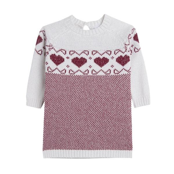 Vestido de niña en punto garnet hearts