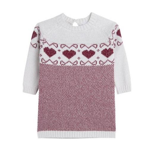 Vestido de niña en punto garnet hearts [0]