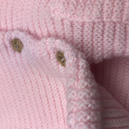 Chaqueta doble de punto para niña en rosa [2]