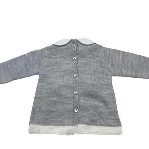Vestido de punto de primera puesta en gris [1]