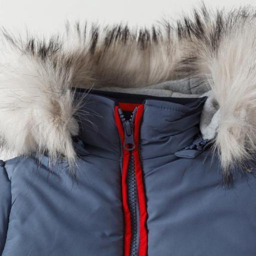 Abrigo acolchado para niño tricolor [2]