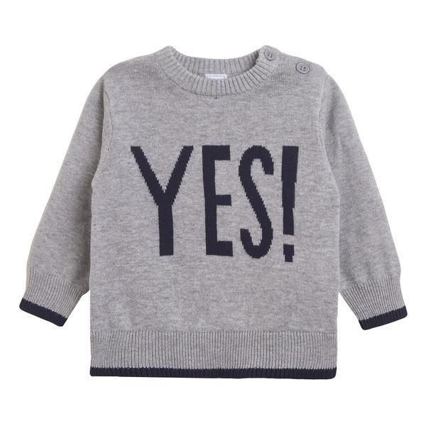 Jersey de niño en gris Yes