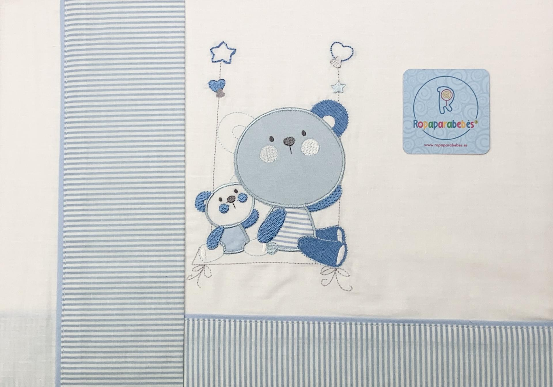 Sábana cuna 60 x 120 en azul Bears