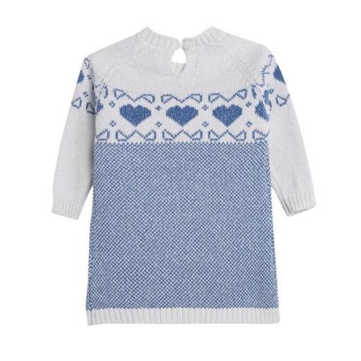 Vestido de niña en punto blue hearts [1]