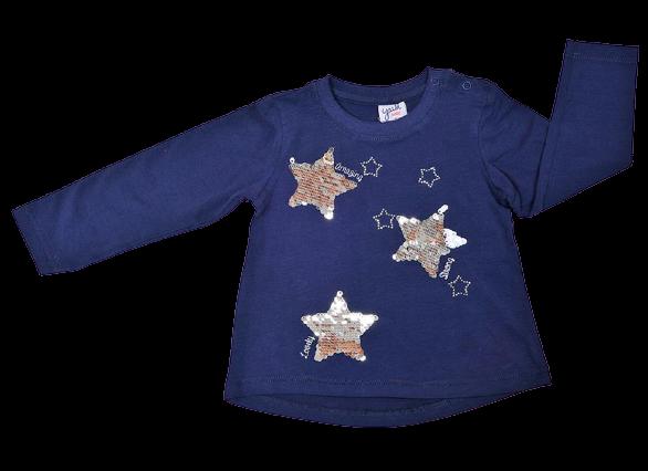 Camiseta de niña en marino Stars