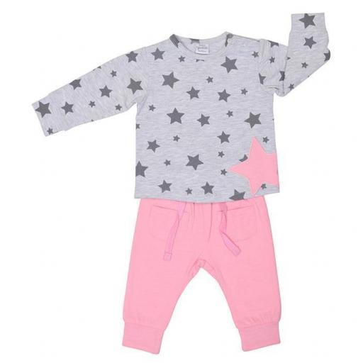 Conjunto niña Grey Stars