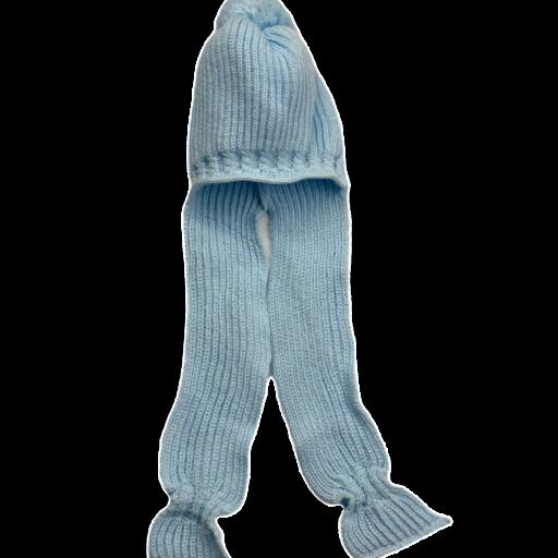 Gorro con pompon y bufanda integrada [1]