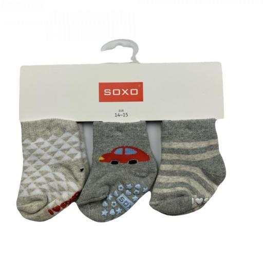 Pack de 3 calcetines antideslizantes grises
