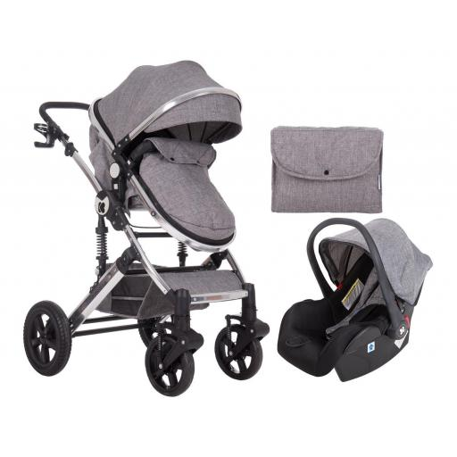 Darling 3 in 1 Transformable Gris Oscuro