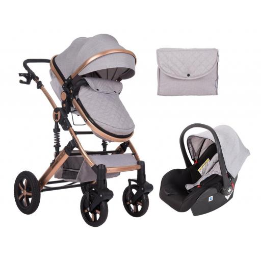 Darling 3 in 1 Transformable Gris Claro
